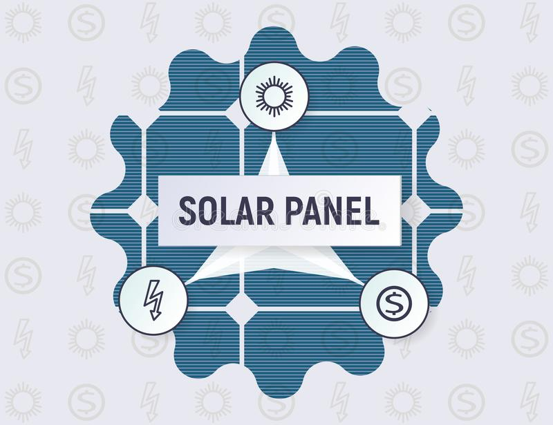 Infographics of the solar panel concept. royalty free illustration