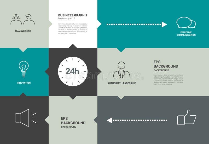 Infographics speechflat diagram met tekstgebieden royalty-vrije illustratie