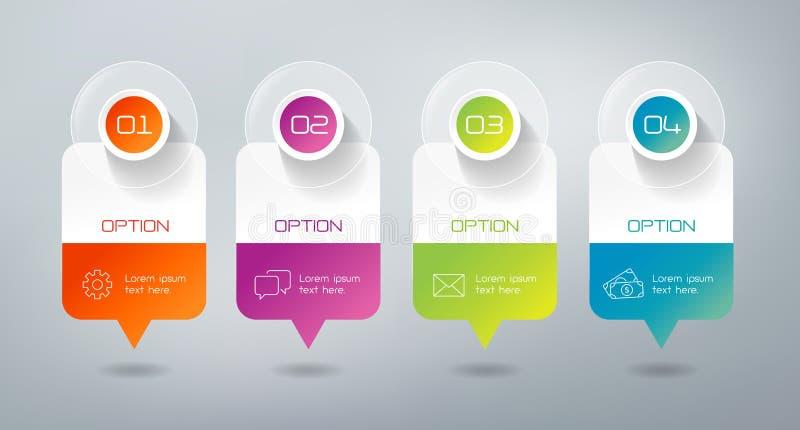 Infographics - 4 stappen vector illustratie