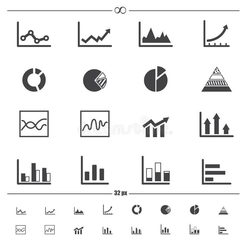 Infographics symbolsvektor royaltyfri illustrationer