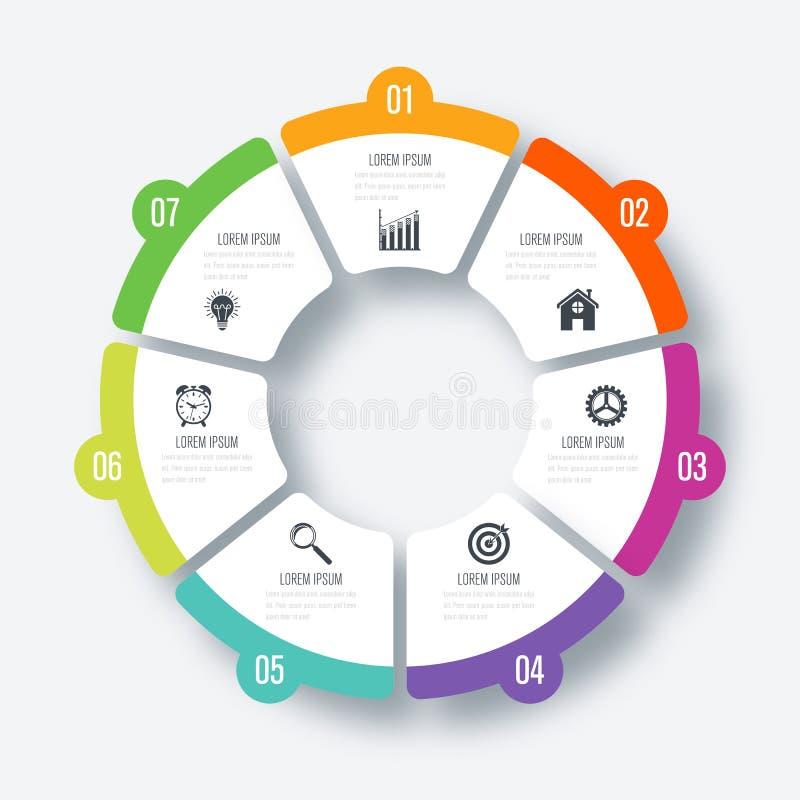 Download Infographics Szablonu 7 Opcje Z Okręgiem Ilustracja Wektor - Ilustracja złożonej z biznes, element: 106921679