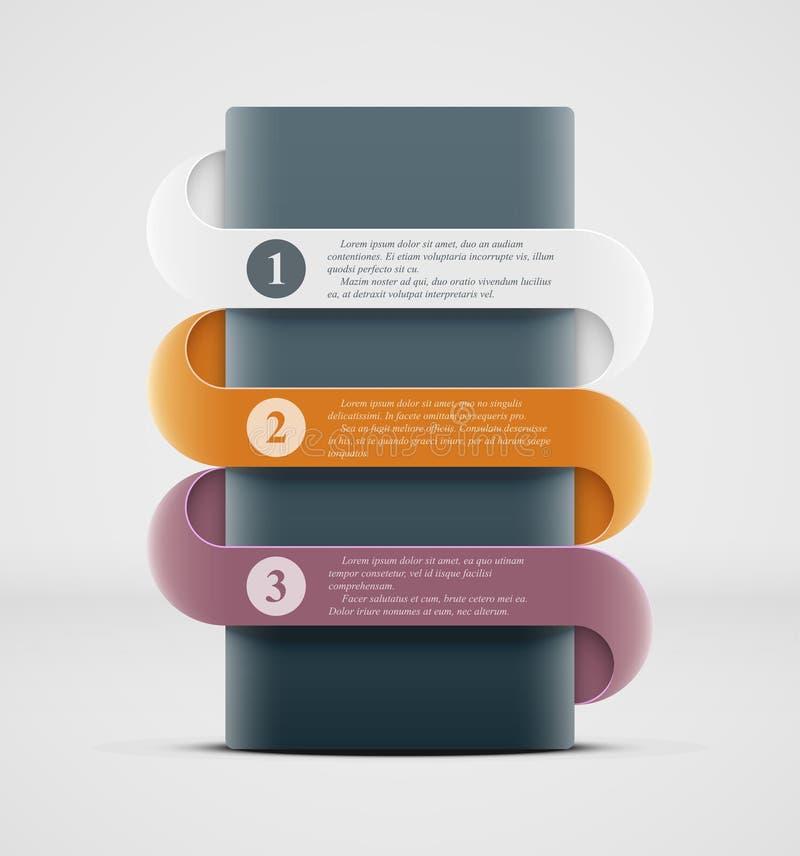 Infographics sztandar ilustracji