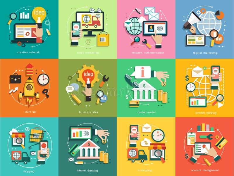 Infographics tła biznes ilustracji