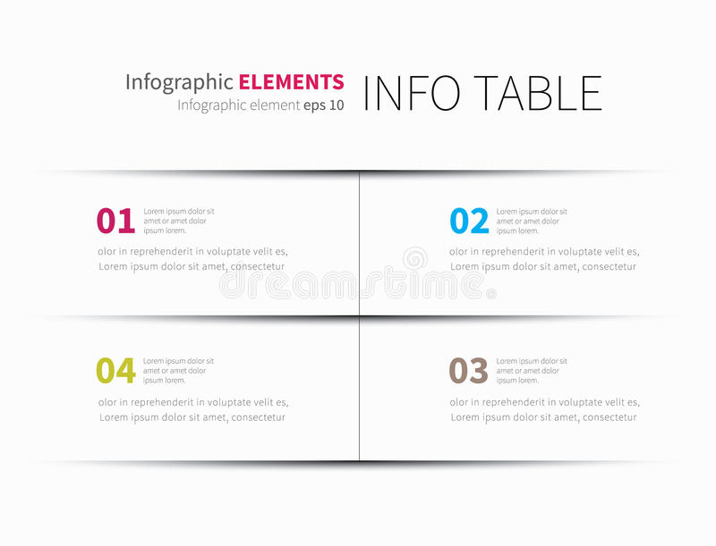 Infographics table background stock illustration