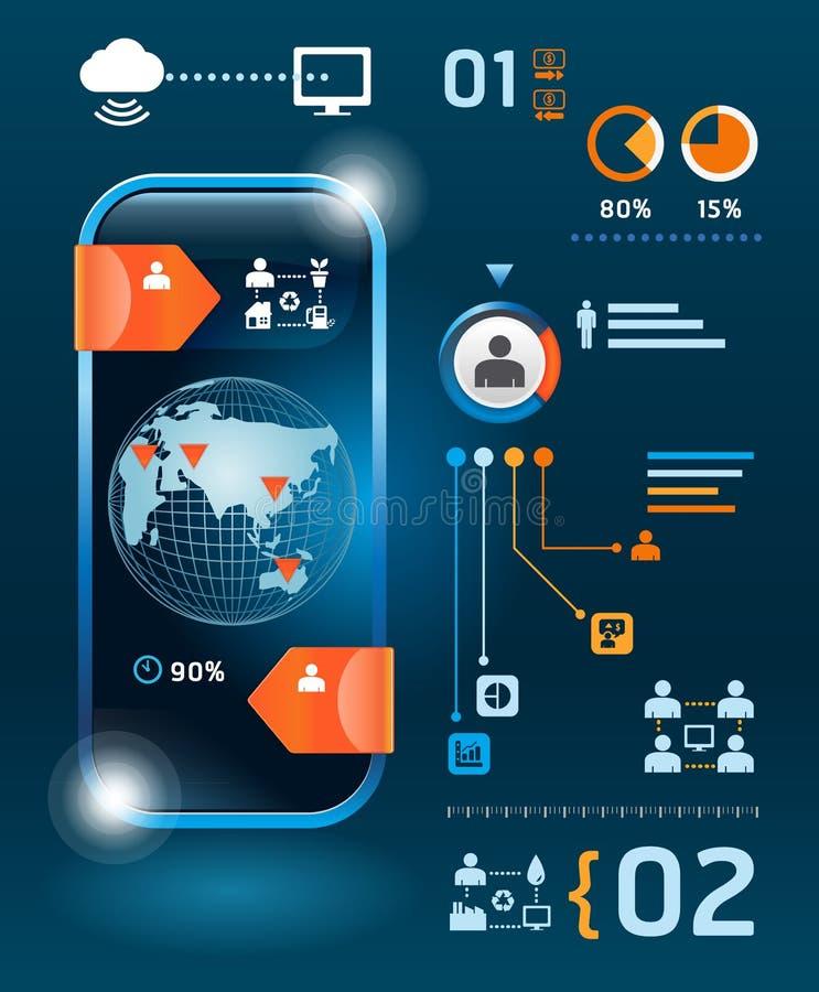 Infographics technologie informacyjne i setu grafika ilustracja wektor