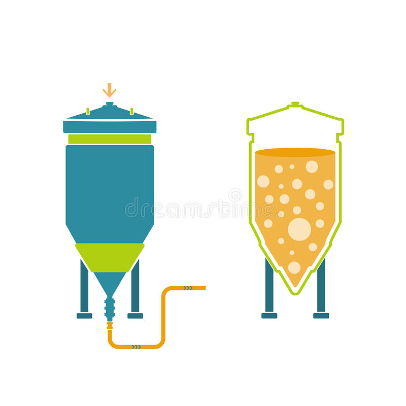 Infographics technology of beer production royalty free illustration