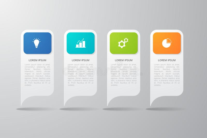 Infographics template for business, education, web design, banners, brochures, flyers. Vector illustration royalty free illustration