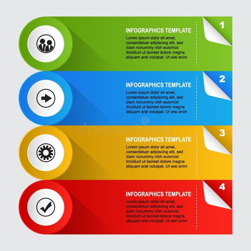 Infographics template design. Infographics template web design presentation - vector illustration on gray background royalty free illustration