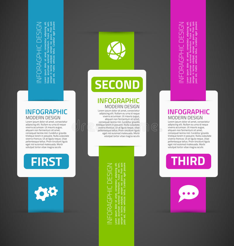 Infographics template stock illustration