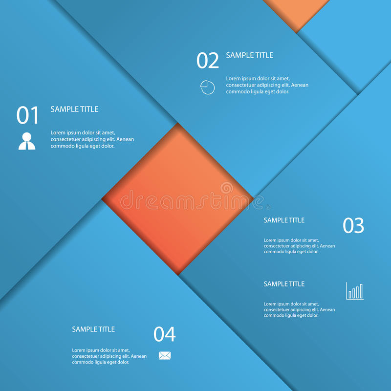 Infographics template with material design. Background. Menu options for business presentation. Eps10 vector illustration stock illustration