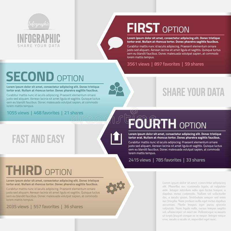 Infographics template vector illustration