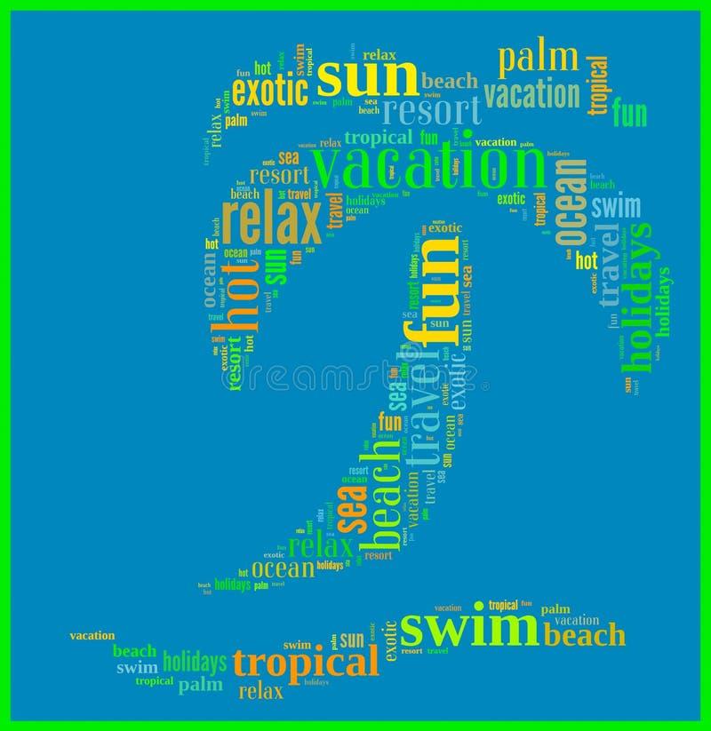 Infographics tropicale di feste fotografia stock