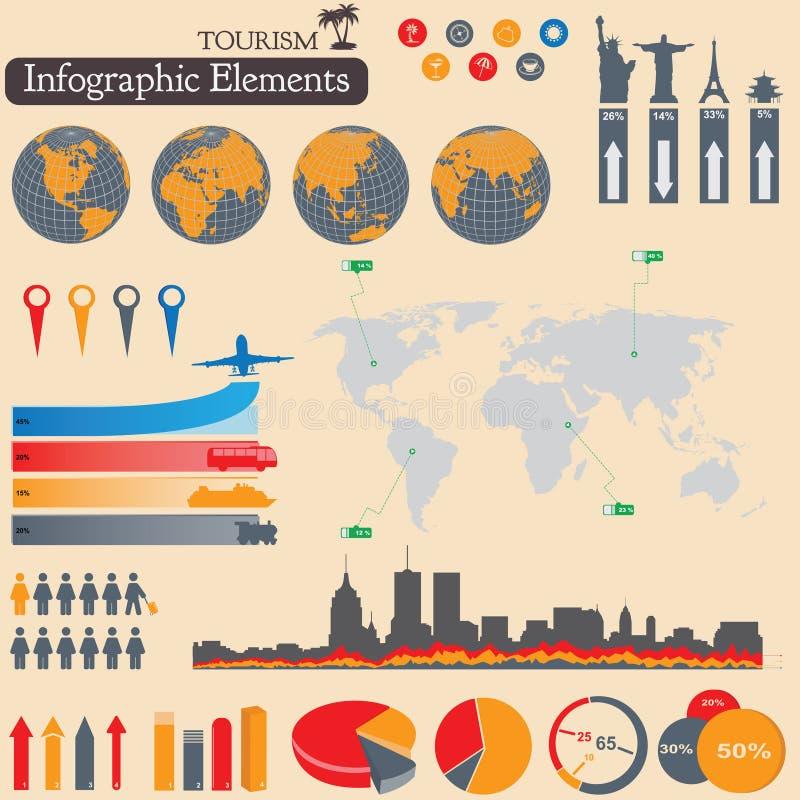 Infographics. Turismo e curso ilustração royalty free