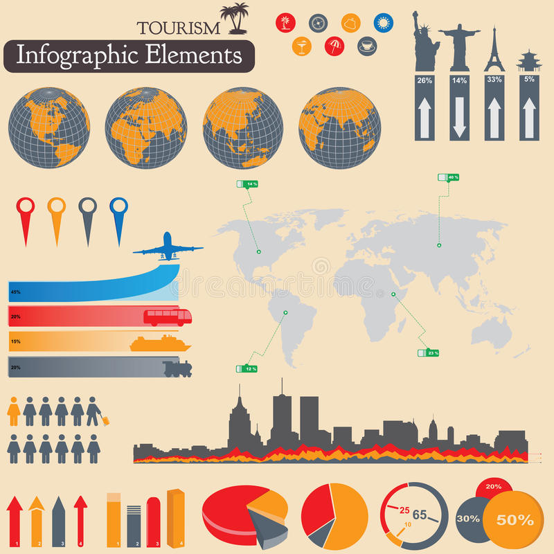 Infographics. Turismo y viaje libre illustration