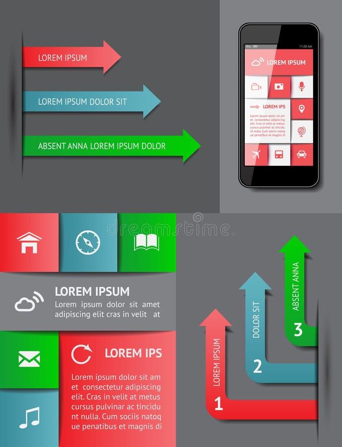 Infographics Und Netzelemente Lizenzfreies Stockfoto