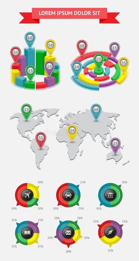 Infographics Und Netzelemente Lizenzfreie Stockfotos