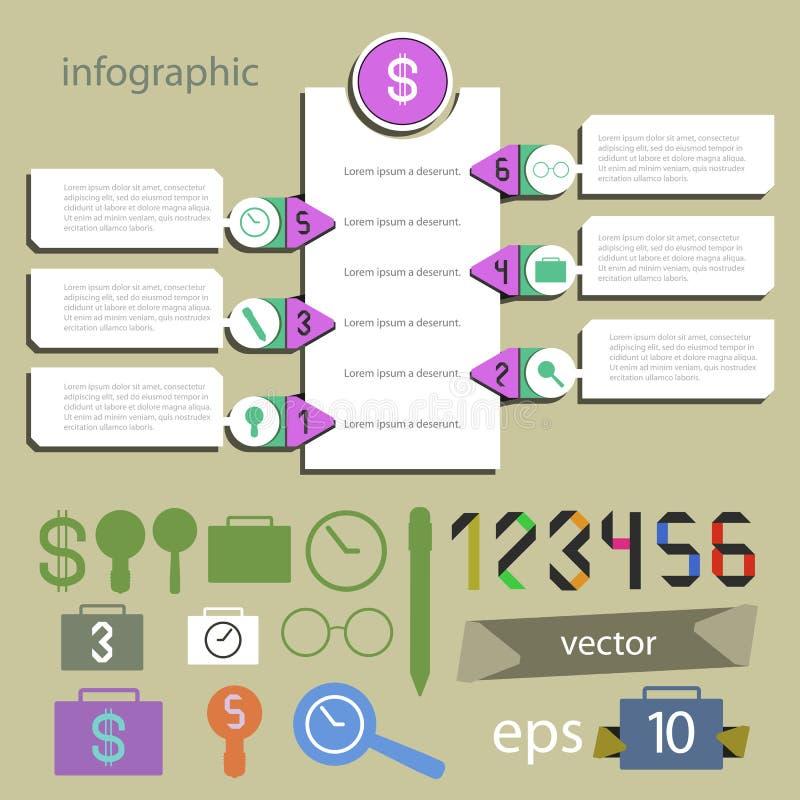 Infographics universellt redigerbart - ställ in för informationsvektor vektor illustrationer