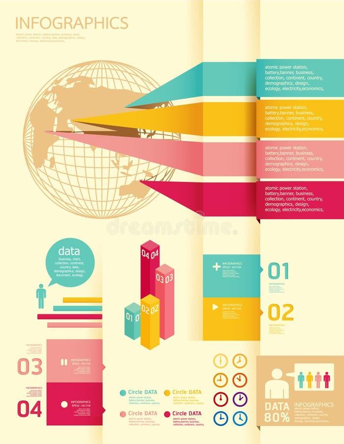 Infographics uppsättning och information