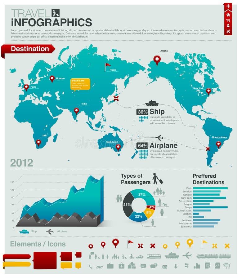 Infographics van de reis - grafieken, symbolen, elementen vector illustratie