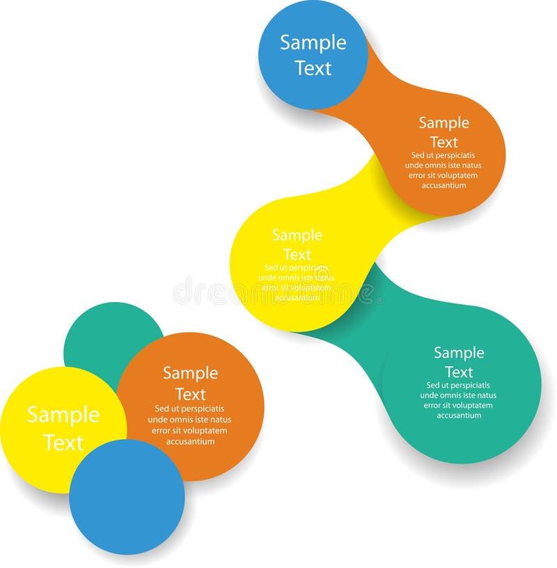 Infographics van het Metaball kleurrijke ronde diagram royalty-vrije illustratie