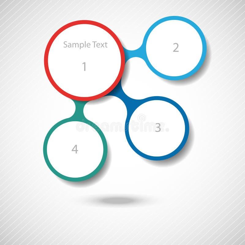 Infographics van het Metaball kleurrijke ronde diagram stock illustratie