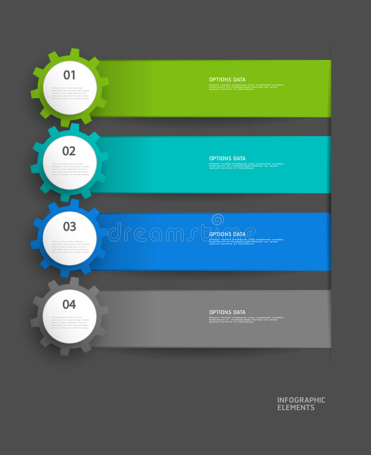 Infographics vector design template royalty free illustration