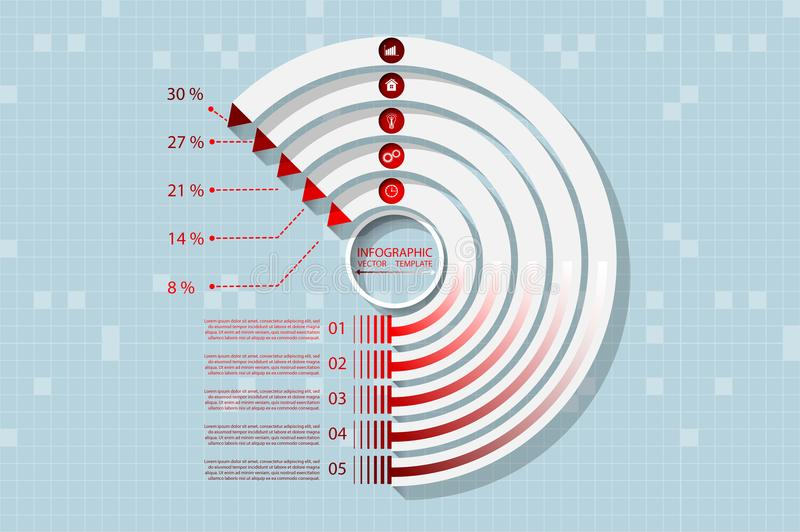 Infographics vector diagram royalty free stock image