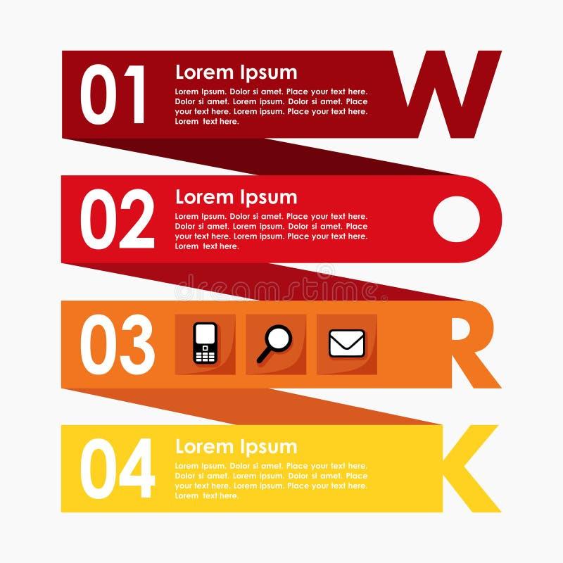 Infographics-Wahl-Schrittfahne, Geschäftskonzept, modernes flaches Design, Illustrationshintergrund lizenzfreie abbildung