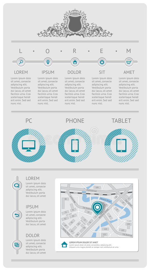 Download Infographics And Web Elements Stock Vector - Image: 29378689