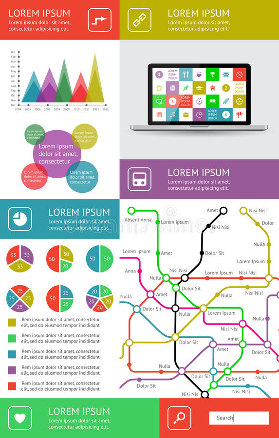 Download Infographics And Web Elements Stock Vector - Image: 31759949