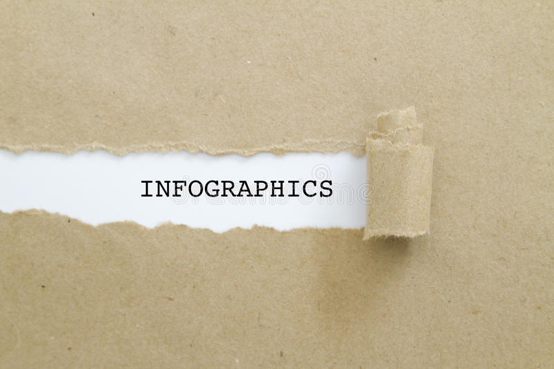 INFOGRAPHICS woord stock foto's