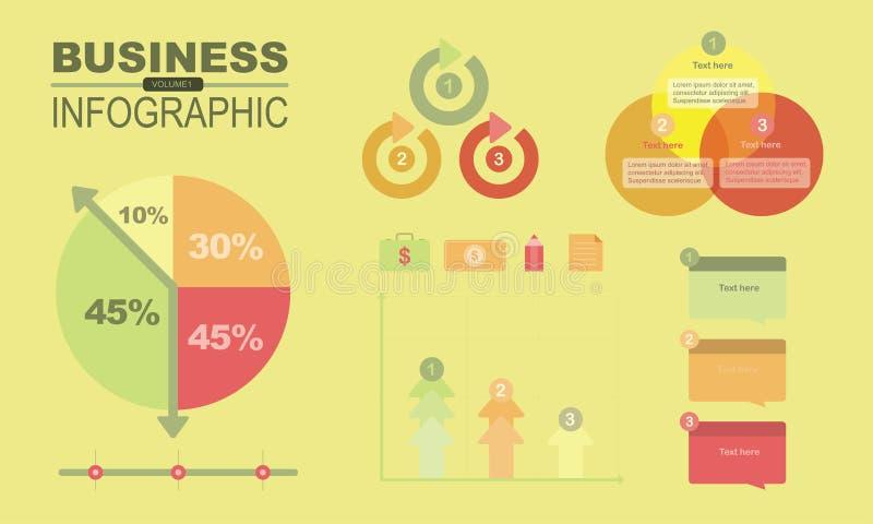 Infographics y elemento volume1 del negocio fotos de archivo libres de regalías