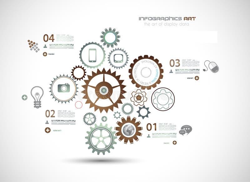 Infographics y fondo de alta tecnología para el negocio ilustración del vector
