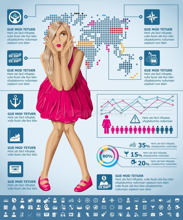 Infographics Z Ziemską mapą