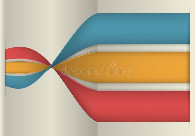 Infographicsbanner, Vectorillustratie stock illustratie