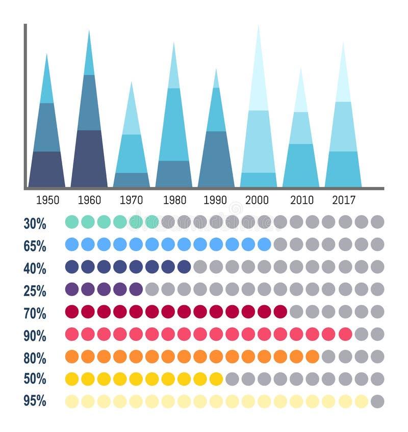 Infographicsbedrijfsgegevens in Stroomschema's stock illustratie