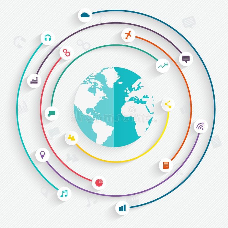 infographicsbeståndsdelar i modern plan affärsstil vektor illustrationer