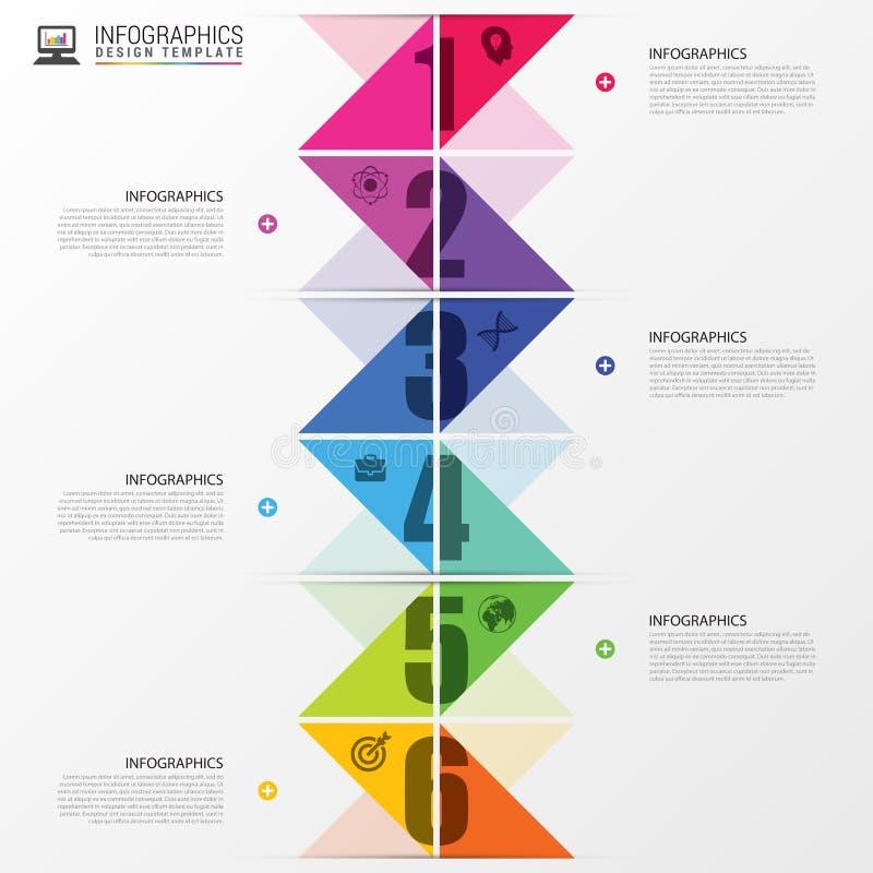 Infographicschronologie Kleurrijk concept met pijlen Vector illustratie royalty-vrije illustratie