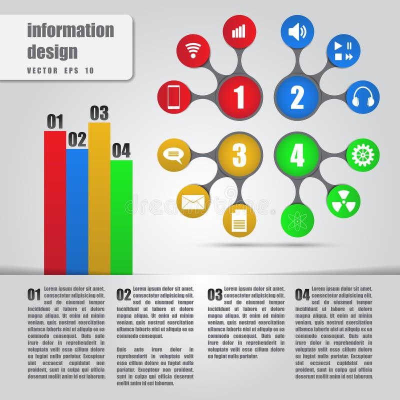 Infographicsconcept. Metaball kleurrijk diagram vector illustratie