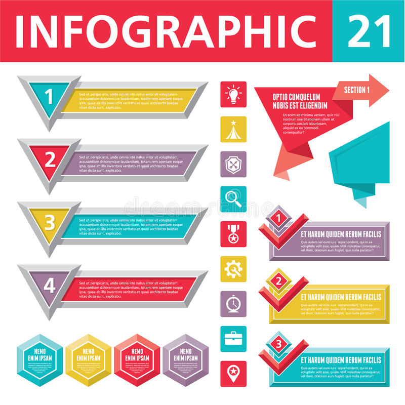 Infographicselementen 21 royalty-vrije illustratie