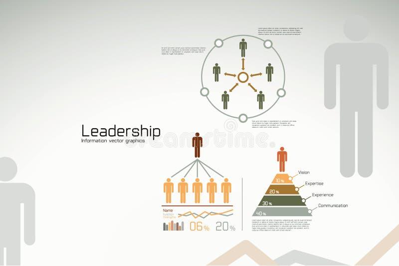 infographicsledarskapstatistik royaltyfri illustrationer