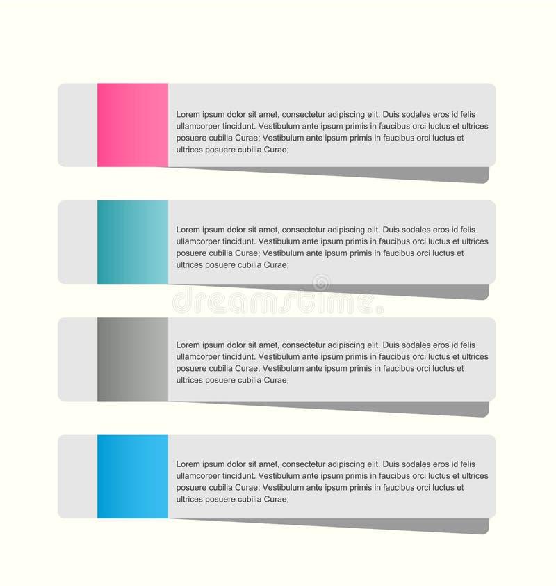 Infographicsmalplaatje voor zaken, onderwijs, Webontwerp, banners vector illustratie