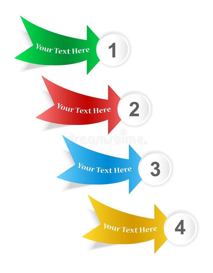 Infographicsmenyn vektor illustrationer