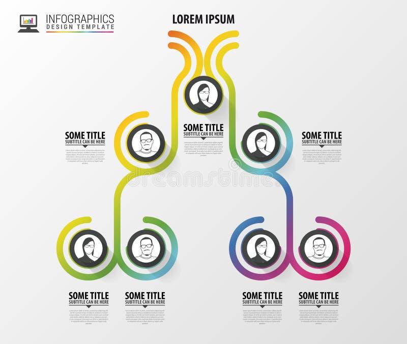 Infographicsontwerp van de organisatiegrafiek Infographics Vector illustratie stock illustratie