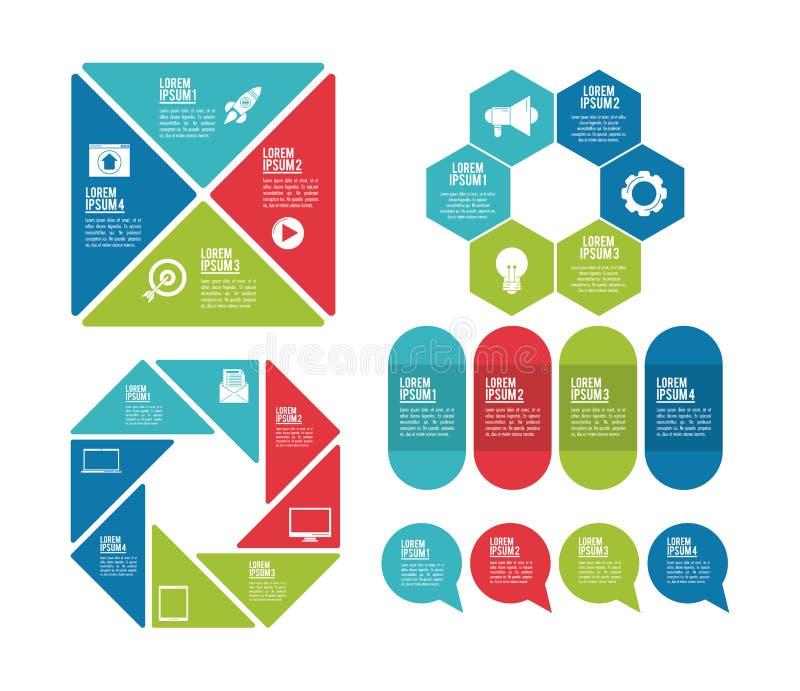 Infographicstijlen en organisatie stock illustratie