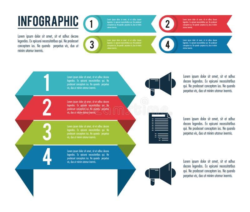 Infographicstijlen en organisatie vector illustratie