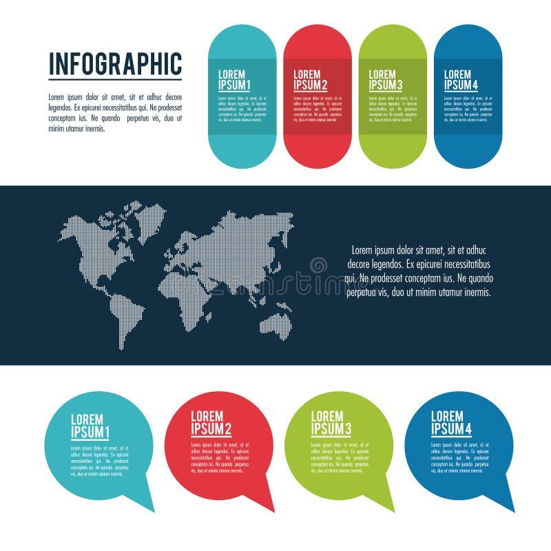 Infographicstijlen en organisatie royalty-vrije illustratie