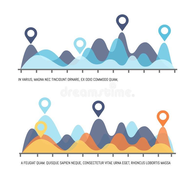 Infographicvisualisatie van Resultaten van Onderzoek stock illustratie