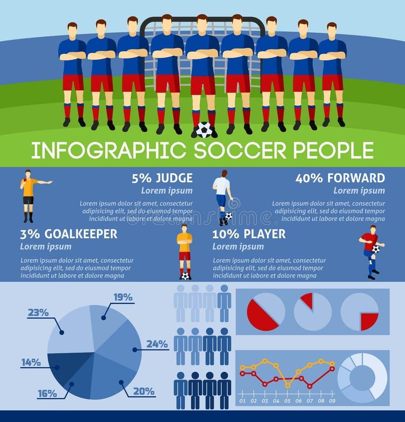 Infographicvoetbal met Team And Gate royalty-vrije illustratie