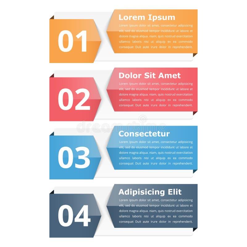 Infographicvoorwerpen met Aantallen en Tekst vector illustratie